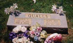 QUALLS, CLETUS - Sharp County, Arkansas | CLETUS QUALLS - Arkansas Gravestone Photos