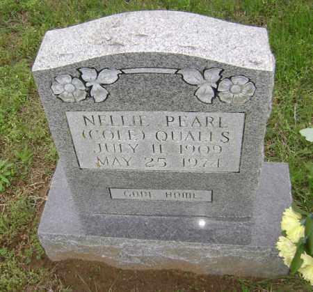 COLE QUALLS, NELLIE PEARL - Sharp County, Arkansas | NELLIE PEARL COLE QUALLS - Arkansas Gravestone Photos