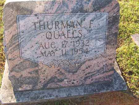QUALLS, THURMAN - Sharp County, Arkansas | THURMAN QUALLS - Arkansas Gravestone Photos