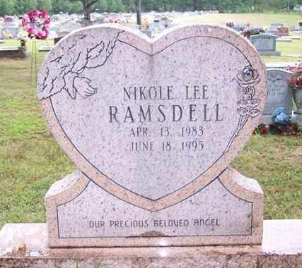 RAMSDELL, NIKOLE LEE - Sharp County, Arkansas | NIKOLE LEE RAMSDELL - Arkansas Gravestone Photos