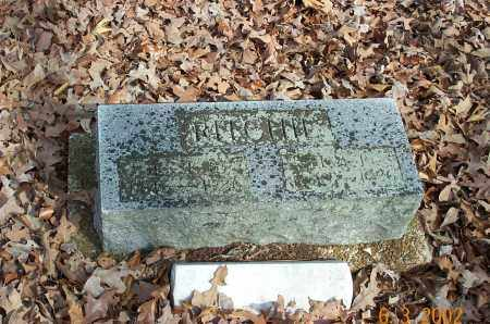 RITCHIE, JESSE BRASEL - Sharp County, Arkansas | JESSE BRASEL RITCHIE - Arkansas Gravestone Photos
