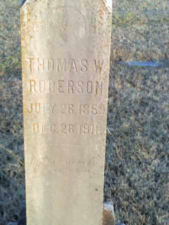 ROBERSON, THOMAS W - Sharp County, Arkansas | THOMAS W ROBERSON - Arkansas Gravestone Photos