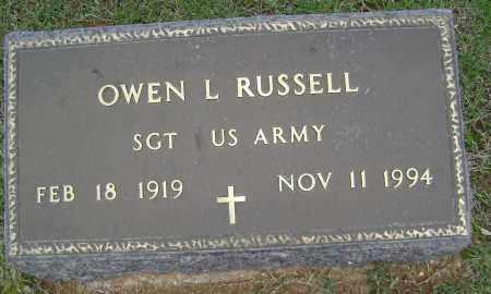 RUSSELL (VETERAN), OWEN L - Sharp County, Arkansas | OWEN L RUSSELL (VETERAN) - Arkansas Gravestone Photos