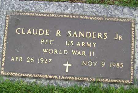 SANDERS, JR (VETERAN WWII), CLAUDE R - Sharp County, Arkansas | CLAUDE R SANDERS, JR (VETERAN WWII) - Arkansas Gravestone Photos