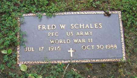 SCHALES (VETERAN WWII), FRED W. - Sharp County, Arkansas | FRED W. SCHALES (VETERAN WWII) - Arkansas Gravestone Photos
