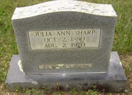 SHARP, JULIA ANN ELIZABETH - Sharp County, Arkansas | JULIA ANN ELIZABETH SHARP - Arkansas Gravestone Photos