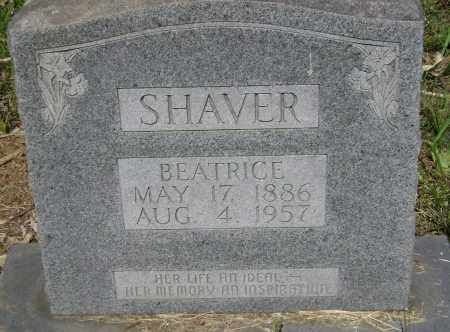 SHAVER, BEATRICE - Sharp County, Arkansas | BEATRICE SHAVER - Arkansas Gravestone Photos