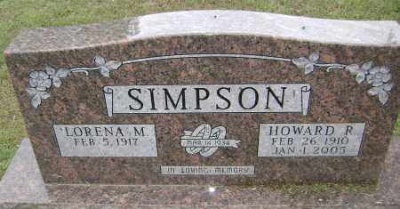 SIMPSON, HOWARD R - Sharp County, Arkansas | HOWARD R SIMPSON - Arkansas Gravestone Photos