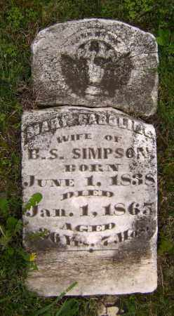 SIMPSON, MARY CAROLINE - Sharp County, Arkansas | MARY CAROLINE SIMPSON - Arkansas Gravestone Photos