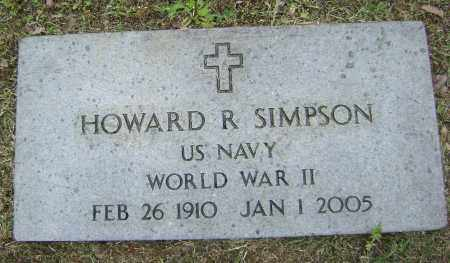 SIMPSON (VETERAN WWII), HOWARD R - Sharp County, Arkansas | HOWARD R SIMPSON (VETERAN WWII) - Arkansas Gravestone Photos