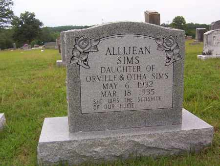 SIMS, ALLIJEAN - Sharp County, Arkansas | ALLIJEAN SIMS - Arkansas Gravestone Photos