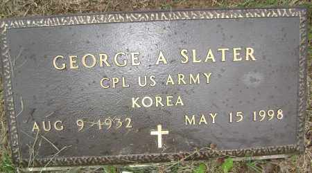 SLATER (VETERAN KOR), GEORGE A - Sharp County, Arkansas | GEORGE A SLATER (VETERAN KOR) - Arkansas Gravestone Photos