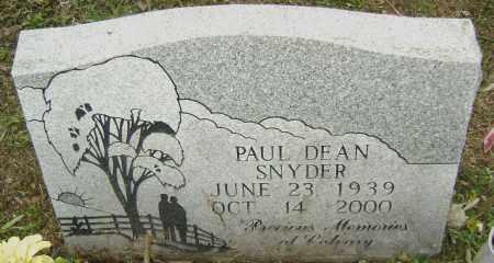 SNYDER, PAUL DEAN - Sharp County, Arkansas | PAUL DEAN SNYDER - Arkansas Gravestone Photos