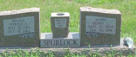 SPURLOCK, MYRTLE E. - Sharp County, Arkansas | MYRTLE E. SPURLOCK - Arkansas Gravestone Photos