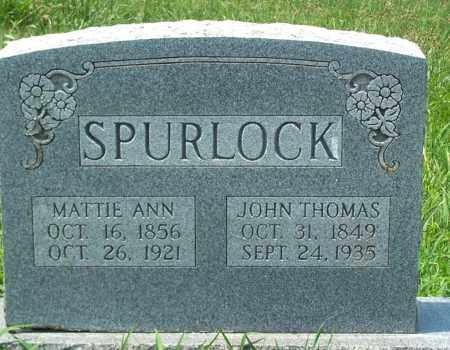 SPURLOCK, MARTHA ANN - Sharp County, Arkansas | MARTHA ANN SPURLOCK - Arkansas Gravestone Photos