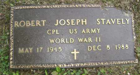 STAVELY (VETERAN WWII), ROBERT JOSEPH - Sharp County, Arkansas | ROBERT JOSEPH STAVELY (VETERAN WWII) - Arkansas Gravestone Photos
