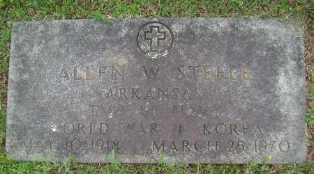 STEELE (VETERAN 2 WARS), ALLEN W - Sharp County, Arkansas | ALLEN W STEELE (VETERAN 2 WARS) - Arkansas Gravestone Photos
