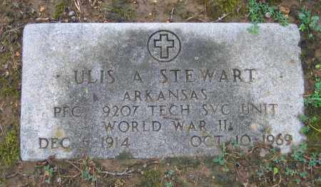STEWART (VETERAN WWII), ULIS A. - Sharp County, Arkansas | ULIS A. STEWART (VETERAN WWII) - Arkansas Gravestone Photos