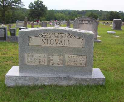 STOVALL, ANDREW JACKSON - Sharp County, Arkansas | ANDREW JACKSON STOVALL - Arkansas Gravestone Photos