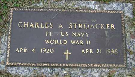 STROACKER (VETERAN WWII), CHARLES A - Sharp County, Arkansas | CHARLES A STROACKER (VETERAN WWII) - Arkansas Gravestone Photos