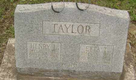 "TAYLOR, HENRIETTA ""ETTA"" - Sharp County, Arkansas 