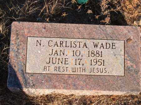 WADE, NANCY CARLISTA - Sharp County, Arkansas | NANCY CARLISTA WADE - Arkansas Gravestone Photos