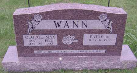 WANN, GEORGE MAX - Sharp County, Arkansas | GEORGE MAX WANN - Arkansas Gravestone Photos