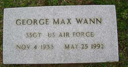 WANN (VETERAN), GEORGE MAX - Sharp County, Arkansas | GEORGE MAX WANN (VETERAN) - Arkansas Gravestone Photos