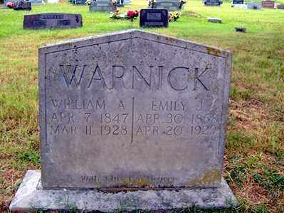 WARNICK, EMILY J - Sharp County, Arkansas | EMILY J WARNICK - Arkansas Gravestone Photos