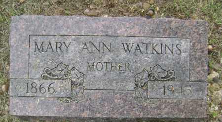 WATKINS, MARY ANN - Sharp County, Arkansas | MARY ANN WATKINS - Arkansas Gravestone Photos