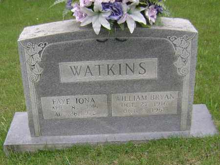 WATKINS, FAYE IONA - Sharp County, Arkansas | FAYE IONA WATKINS - Arkansas Gravestone Photos