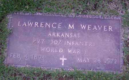 WEAVER (VETERAN WWI), LAWRENCE M - Sharp County, Arkansas | LAWRENCE M WEAVER (VETERAN WWI) - Arkansas Gravestone Photos