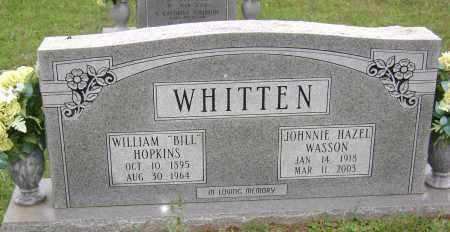 WASSON WHITTEN, JOHNNIE HAZEL - Sharp County, Arkansas | JOHNNIE HAZEL WASSON WHITTEN - Arkansas Gravestone Photos