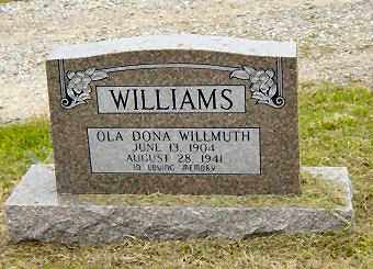 WILLIAMS, OLA DONA - Sharp County, Arkansas | OLA DONA WILLIAMS - Arkansas Gravestone Photos