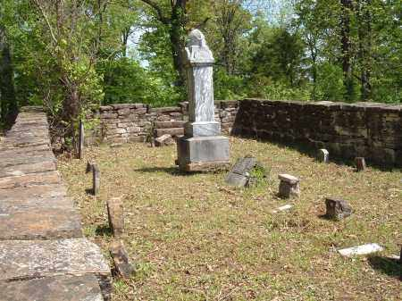 *OVERVIEW OF STONE ENCLOSURE,  - Sharp County, Arkansas |  *OVERVIEW OF STONE ENCLOSURE - Arkansas Gravestone Photos
