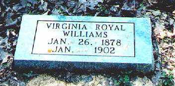 "ROYAL WILLIAMS, VIRGINIA MELVINA ""VINEY"" - Sharp County, Arkansas 
