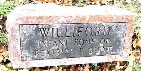 WILLIFORD, INFANT SONS - Sharp County, Arkansas | INFANT SONS WILLIFORD - Arkansas Gravestone Photos