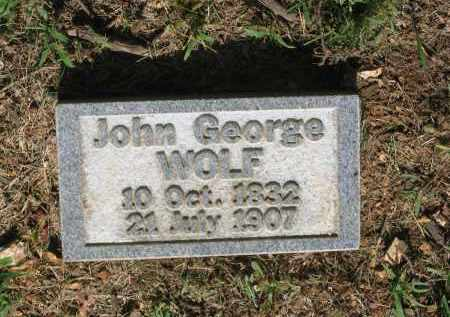 WOLF, JOHN GEORGE - Sharp County, Arkansas | JOHN GEORGE WOLF - Arkansas Gravestone Photos