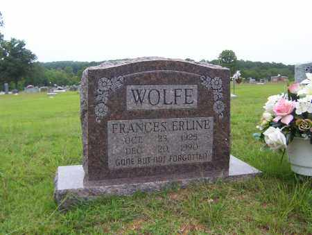 WOLFE, FRANCES ERLINE - Sharp County, Arkansas | FRANCES ERLINE WOLFE - Arkansas Gravestone Photos