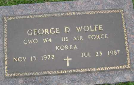 WOLFE (VETERAN KOR), GEORGE D - Sharp County, Arkansas | GEORGE D WOLFE (VETERAN KOR) - Arkansas Gravestone Photos