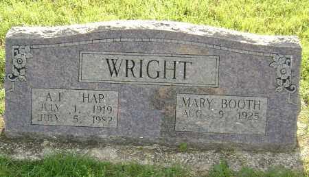 "WRIGHT, ARTHUR F.  ""HAP"" - Sharp County, Arkansas 