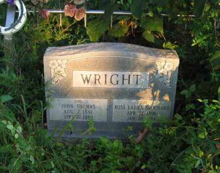 WRIGHT, JOHN THOMAS - Sharp County, Arkansas | JOHN THOMAS WRIGHT - Arkansas Gravestone Photos