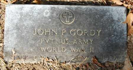 GORDY  (VETERAN WWII), JOHN P - St. Francis County, Arkansas | JOHN P GORDY  (VETERAN WWII) - Arkansas Gravestone Photos