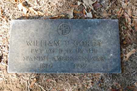 GORDY  (VETERAN SAW), WILLIAM F - St. Francis County, Arkansas | WILLIAM F GORDY  (VETERAN SAW) - Arkansas Gravestone Photos