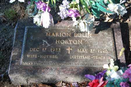HORTON, MARION BOLIN - St. Francis County, Arkansas | MARION BOLIN HORTON - Arkansas Gravestone Photos