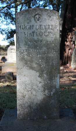 MATLOCK  (VETERAN), HUGH DEXTER - St. Francis County, Arkansas | HUGH DEXTER MATLOCK  (VETERAN) - Arkansas Gravestone Photos