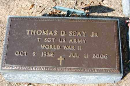 SEAY, JR  (VETERAN WWII), THOMAS D - St. Francis County, Arkansas | THOMAS D SEAY, JR  (VETERAN WWII) - Arkansas Gravestone Photos