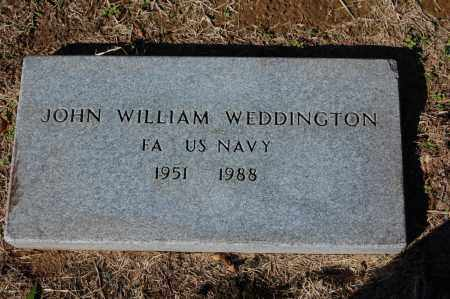WEDDINGTON  (VETERAN), JOHN WILLIAM - St. Francis County, Arkansas | JOHN WILLIAM WEDDINGTON  (VETERAN) - Arkansas Gravestone Photos
