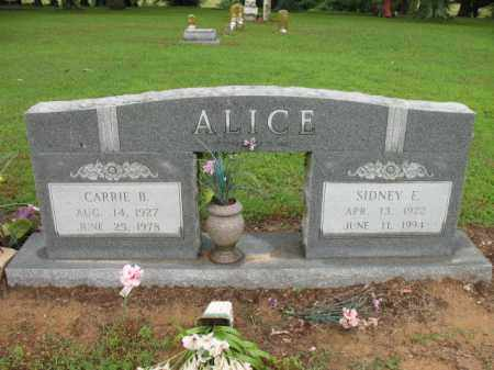 ALICE, SR, SIDNEY E - St. Francis County, Arkansas | SIDNEY E ALICE, SR - Arkansas Gravestone Photos