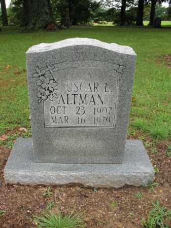 ALTMAN, OSCAR L - St. Francis County, Arkansas | OSCAR L ALTMAN - Arkansas Gravestone Photos